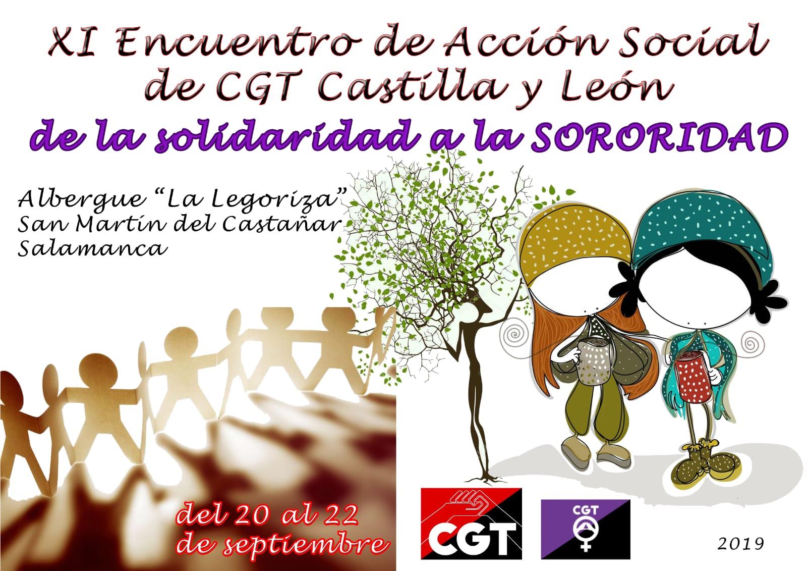 Participando en el XI Encuentro de acción social de CGT Castilla y Léon.